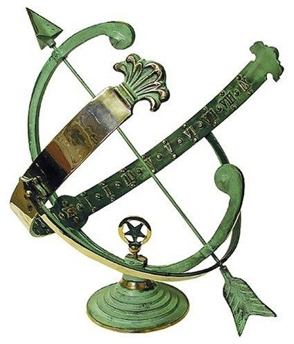 Brass Armillary Sundial traditional garden sculptures