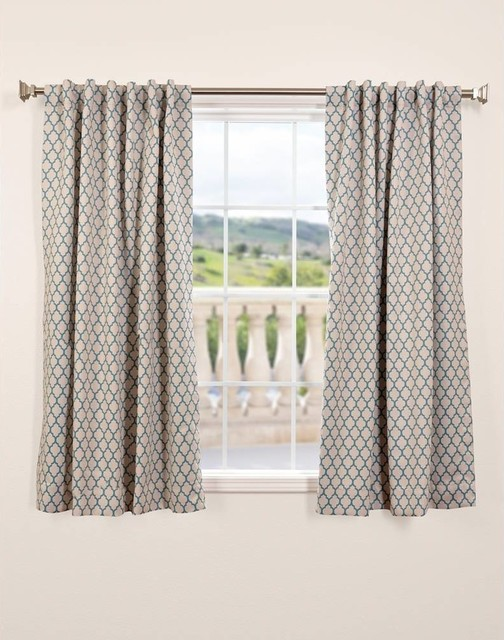 Casablanca Teal Blackout 63 Inch Curtain Panel
