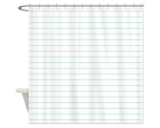 White Notebook Paper Shower Curtain by Crazy Shower Curtains -