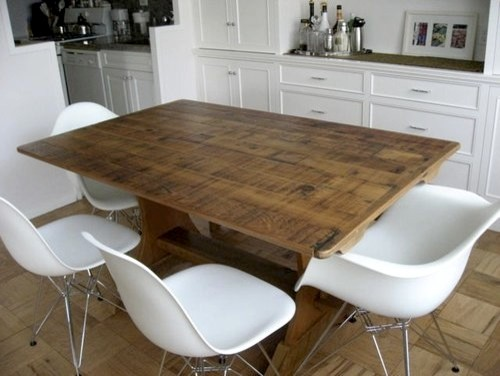 Very Rustic Old Pine Trestle For NYC Client farmhouse-dining-tables