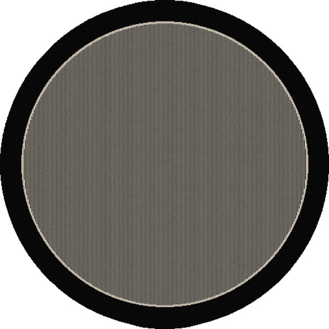 Dynamic Rugs Piazza Round 7.10 2746-3908 Black contemporary-area-rugs