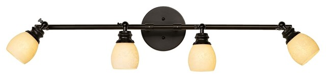 Contemporary LED Elm Park 4-Head Bronze Track Wall or Ceiling Light Fixture contemporary-ceiling-lighting