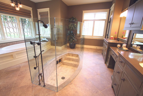 12 luxury showers that will never make you want to leave for Bathroom in middle of house