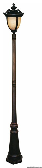 Z-Lite 2141P-BG Winchester 3 Light Post Light & Accessories in Black Gold outdoor-products