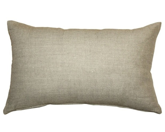 Pillow Decor - Pillow Decor - Tuscany Linen Natural 12x20 Throw Pillow - The Tuscany Linen Throw pillows are 100% linen with a soft natural linen touch and texture. Available in a range of colors and sizes, these linen pillows are ideal solid color accent pillows for your bed or sofa. Mix and match to complement other accent colors in your home.