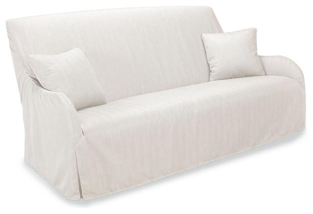 Morgan Slipcovered Outdoor Sofa in Spinnaker Salt transitional-sofas