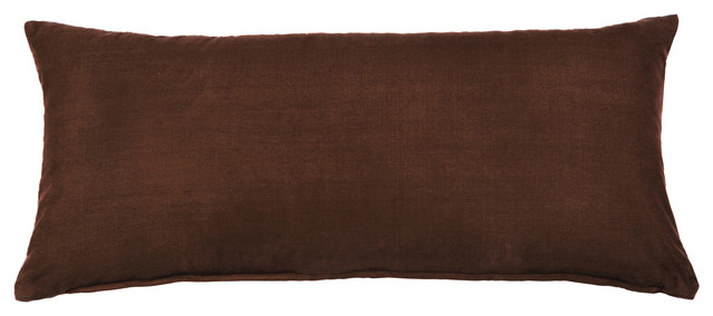 Solid Dark Brown Accent / Throw Pillow Cover - Contemporary - Decorative Pillows - by Silver ...