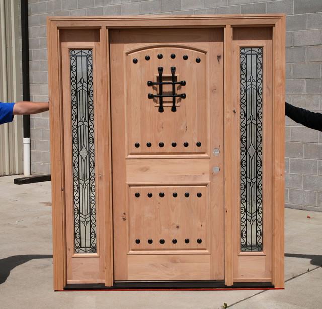 Knotty Alder Wood Door traditional-front-doors