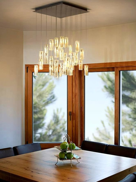 """Drops of light - Our beautiful """"drops of light"""" are made of art fused glass and create a beautiful chandelier with an elegant look. Our collection is custom design. We design the chandelier in any size, color and canopy to fit our customer needs."""