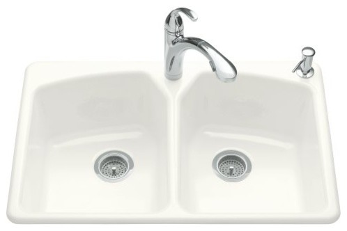 KOHLER K-6491-2R-7 Tanager Self-Rimming Kitchen Sink contemporary-kitchen-sinks