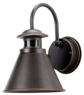 Hampton Bay Outdoor Lanterns. 180-Degree Outdoor Motion-Sensing