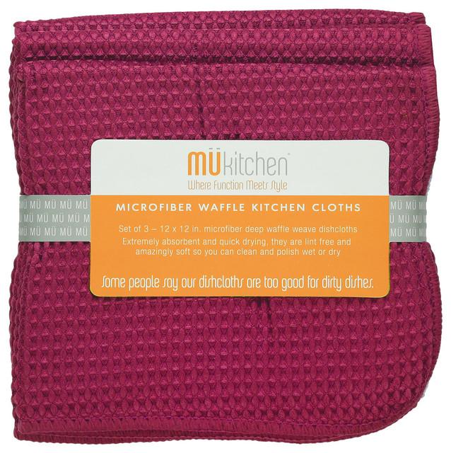 Mu Kitchen: MU Kitchen Eggplant Waffle Microfiber Dishcloth