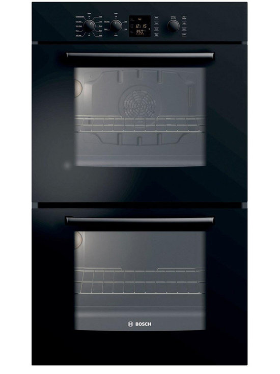 """Bosch 30"""" 300 Series Double Wall Oven With Convection, Black 