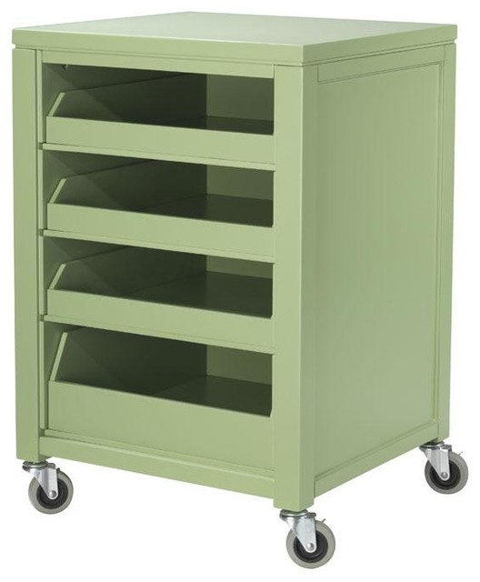 Martha Stewart Living™ Craft Space Cart with Pull-Out Trays - Traditional - Kids Toys And Games ...