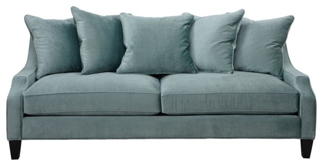 Brighton Sofa, Aquamarine transitional-sofas