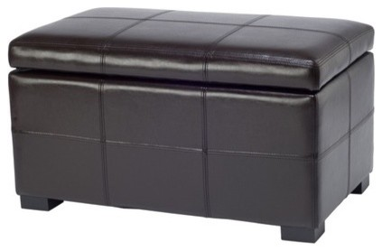 Madison Leather Ottoman modern-ottomans-and-cubes