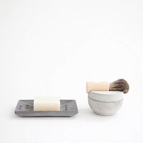 Concrete Shaving Kit contemporary bath and spa accessories