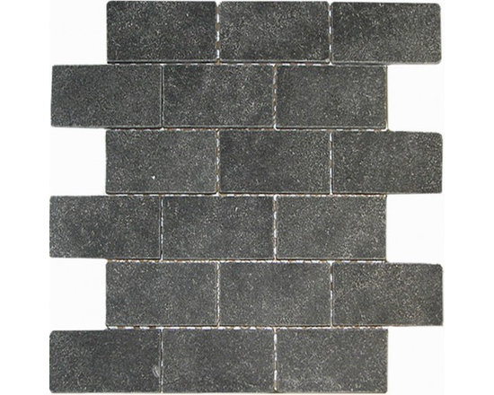 lava rock tumbled 2x4 Brick pattern stone mosaic