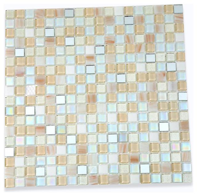 Whimsical Casablanca Glass Tile contemporary-tile