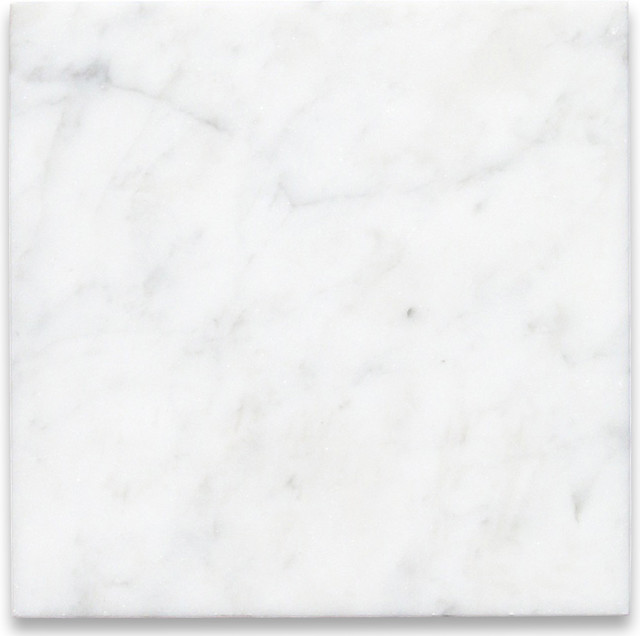 Carrara White 6 X 6 Tile Honed Marble From Italy Wall