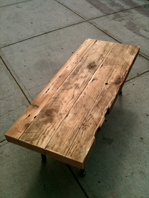 Reclaimed Rafter Coffee Table rustic-coffee-tables