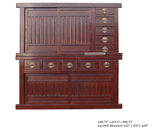 Large Japanese Two Layers Stack Tansu / Storage Cabinet - On SALE