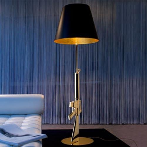 FLOS Lounge Gun Floor Lamp eclectic-floor-lamps
