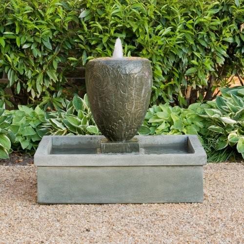Campania International Longwood Arabesque Cast Stone Fountain contemporary-outdoor-fountains-and-ponds