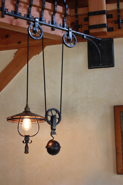 Retractable Pendant With Counter Weight Traditional