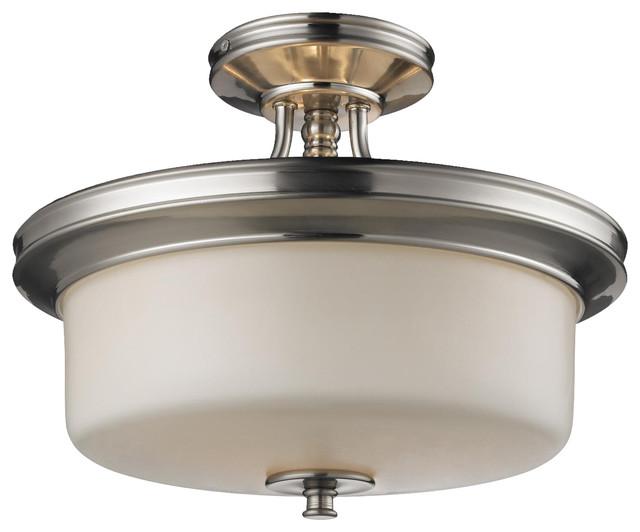 Cannondale Semi Flush Light Fixture Contemporary