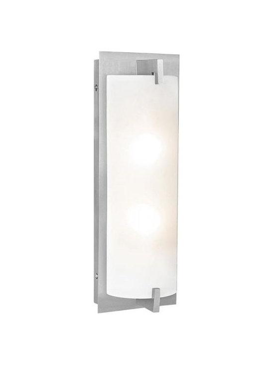 Access Lighting 62235-BS/OPL Two Light Steel Vanity -