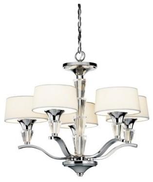 Kichler 42029CH Crystal Persuasion 5-Light Chandelette - 17W in. Chrome modern-ceiling-lighting