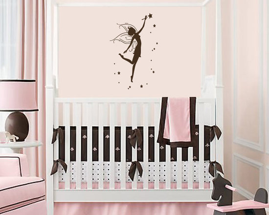Vinyl Decals Fairy Princess with Stars Home Wall Art Decor Removable Sticker Mur -