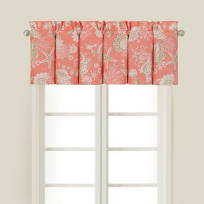 Natural Shells Window Valance In Coral Contemporary