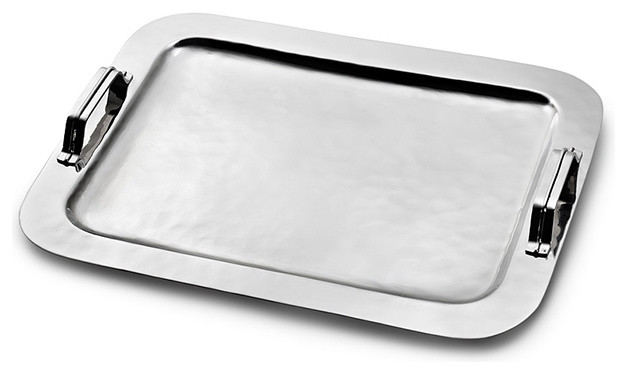 Nordica Serving Tray with Strap Handles - Traditional - Serving Trays ...