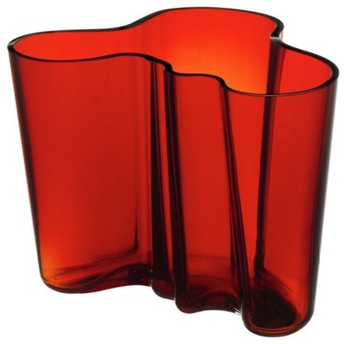 alvar aalto large flaming red vase modern vases by allmodern. Black Bedroom Furniture Sets. Home Design Ideas