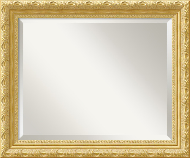 Versailles Gold Framed Mirror contemporary-mirrors