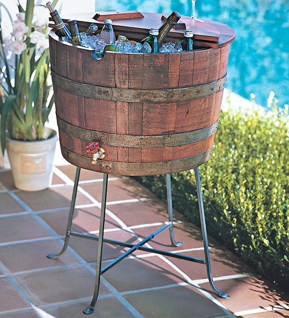 Wine Barrel Beverage Cooler contemporary barware