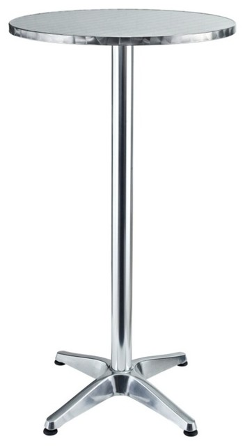 Modway - Elevate Modern Round Aluminum Outdoor Bar Table - Eei-548-Slv traditional-indoor-pub-and-bistro-tables