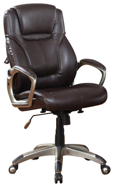 Serta EZ Tool Free Office Chair in Brown Bonded Leather transitional-office-chairs