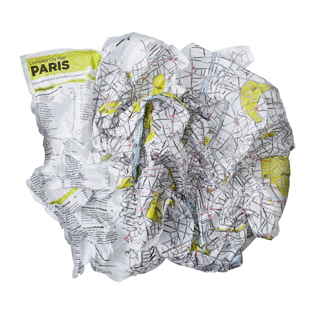 Crumpled City Maps modern accessories and decor