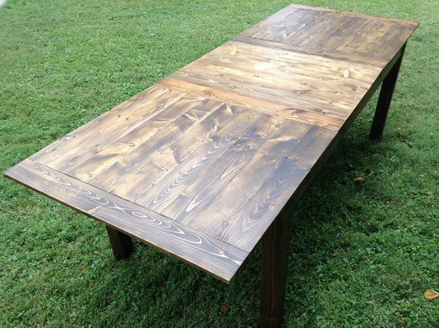 Farmhouse Table W Leaf Rustic Dining Tables Raleigh