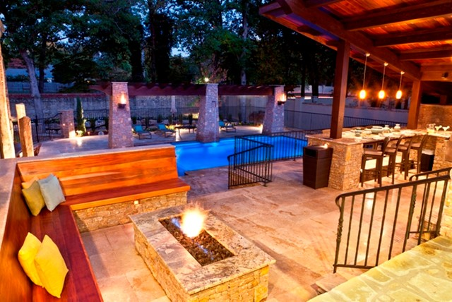 Aquatech Pools contemporary patio