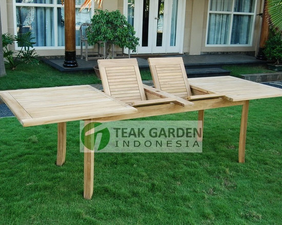 Teak Garden Furniture, Teak Extending Table - Elegant Teak Extending table. Visit http://www.teakgardenindonesia.com for more info