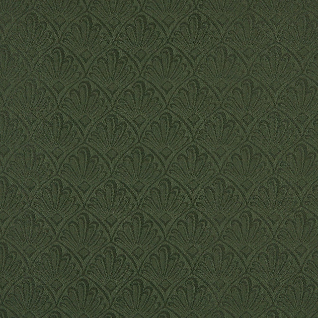 Dark Green Two Toned Fan Upholstery Fabric By The Yard contemporary-upholstery-fabric