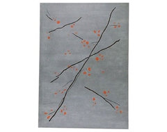 Inari Grey/Orange Rug modern rugs
