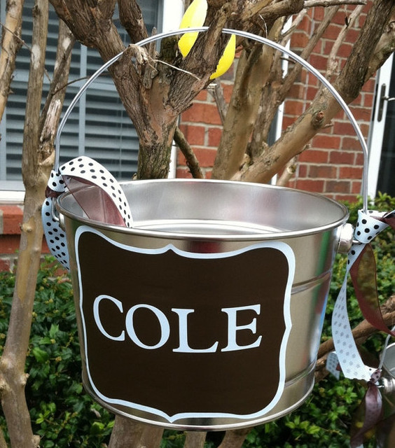 Personalized Easter Basket For Boy Or Girl By Vintage by Nicole contemporary-baskets