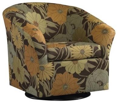 Sam Moore Edgar Swivel Chair - Espresso modern-office-chairs