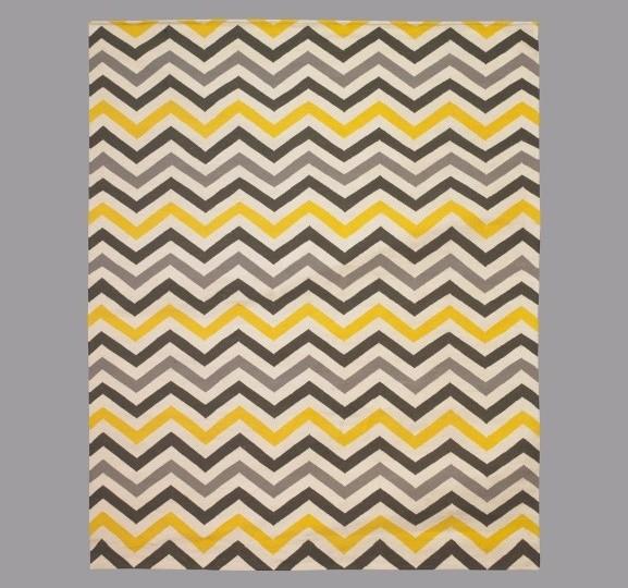 Zig Zag Citrine Rug modern-rugs