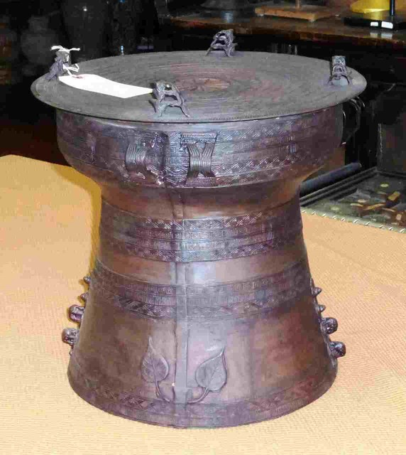 Bronze Rain Drum 4 Eclectic Side Tables And End Tables By Berbere World Imports